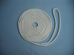 "3/8"" X 15' NYLON DOUBLE BRAID DOCK LINE - WHITE"